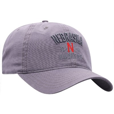 NCAA Nebraska Cornhuskers Men's Skill Gray Garment Washed Canvas Hat