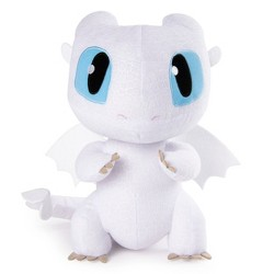 "DreamWorks Dragons Squeeze and Growl Lightfury 10"" Plush Dragon with Sounds"