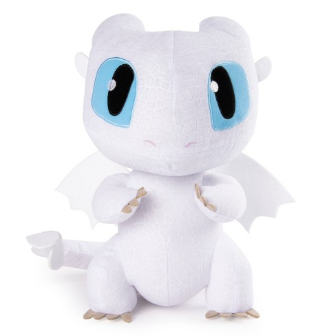 Dreamworks Dragons Squeeze And Growl Lightfury 10 Plush Dragon With Sounds Target