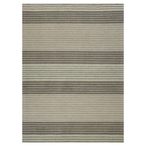Gray Stripe Tufted Area Rug 8 X 10 Kas Rugs Target