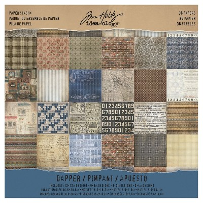 Tim Holtz Paper Stash Paper Pad-Asst Colors 12 X12