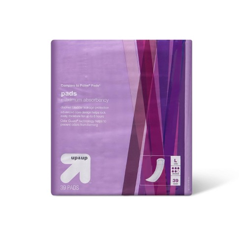 Incontinence Pads - Maximum Absorbency - Long - 39ct - Up&Up™ - image 1 of 3