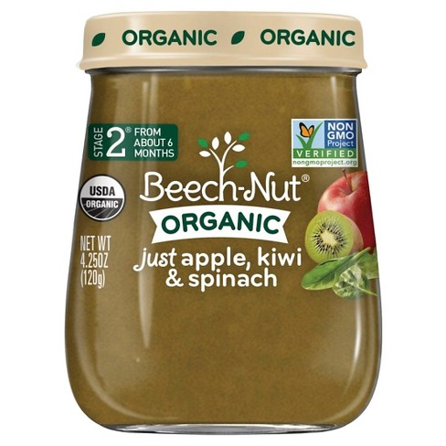 Beech-Nut Just Apple, Kiwi & Spinach Stage 2, 4.25oz - image 1 of 1