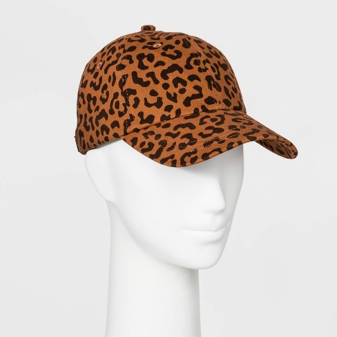 Women's Leopard Print Brushed Soft Hand Cotton Canvas Baseball Hat - Wild Fable™ Brown - image 1 of 2