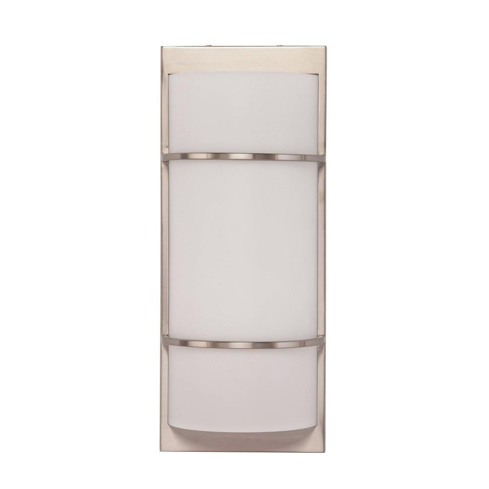Carred Decorative Sconce Led Lamp White (Includes Energy Efficient Light Bulb) - Aiden Lane