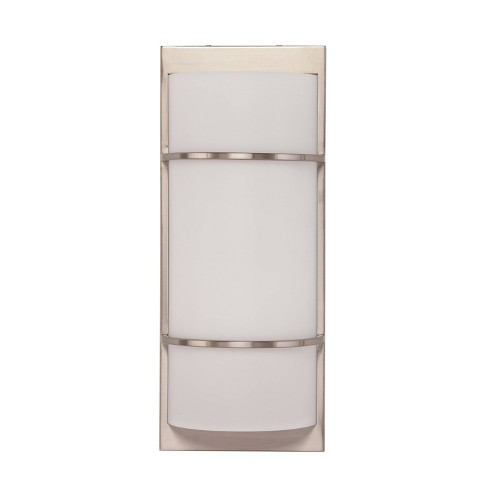 Carred Decorative Sconce LED Lamp White (Includes Energy Efficient Light Bulb) - Aiden Lane - image 1 of 4