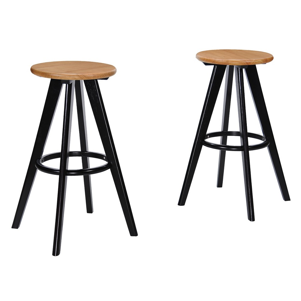 Fantastic Judd Wood Barstool Set Of 2 Natural Christopher Knight Home Inzonedesignstudio Interior Chair Design Inzonedesignstudiocom