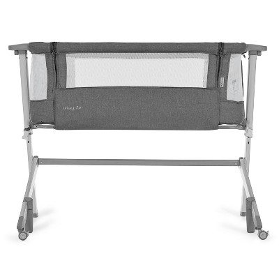 Dream On Me Skylar Bassinet and Bedside Sleeper - Gray