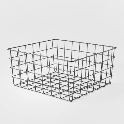 """13"""" Rectangular Steel Decorative Baskets White - Room Essentials™"""