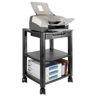 Kantek Mobile Printer Stand Three-Shelf 17w x 13-1/4d x 24-1/4h Black PS540