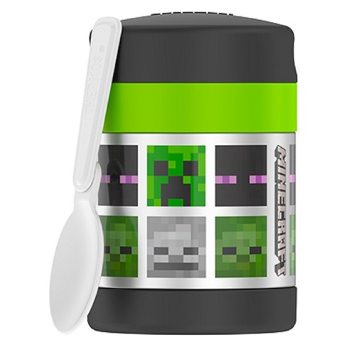 Thermos Minecraft 10oz Funtainer Food Jar - Green - image 1 of 5