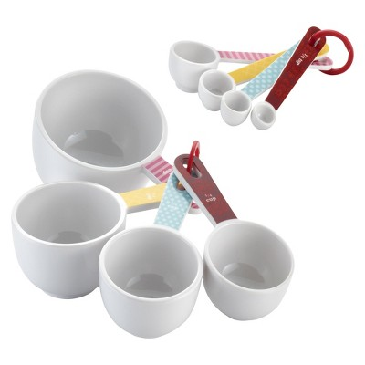 Cake Boss 8 Piece Countertop Accessories Melamine Measuring Cups & Spoons Set