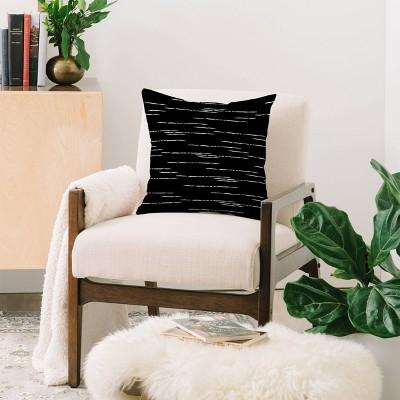 Iveta Abolina Stripes Square Throw Pillow Black - Deny Designs : Target