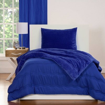 Crayola Playful Plush Royal Blue Comforter Set (Twin) 2pc