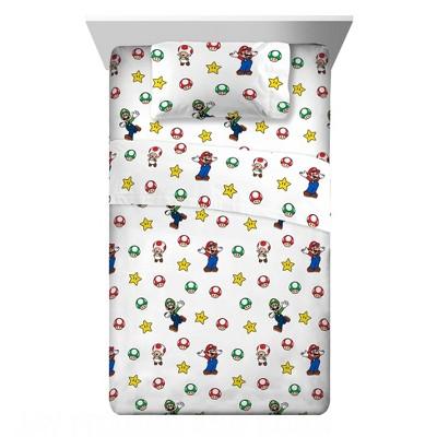 Twin Super Mario Flannel Sheet