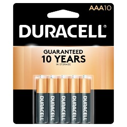 Duracell CopperTop AAA Alkaline Batteries - 10ct