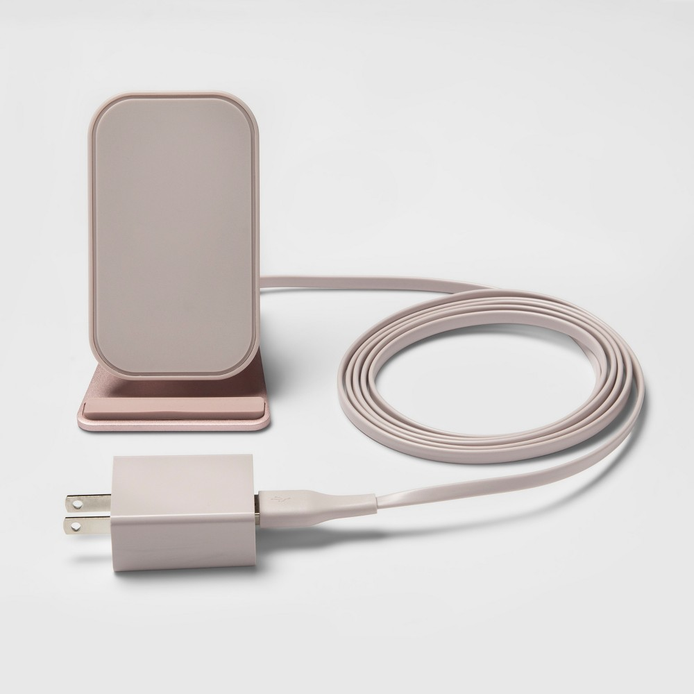 heyday Qi Wireless Charging Stand - Rose Gold heyday Qi Wireless Charging Stand - Rose Gold