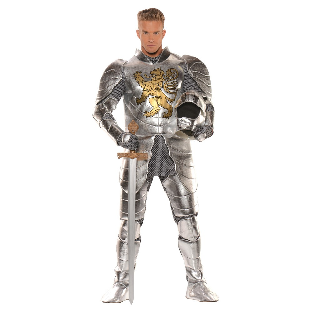 Men's Knight In Shining Armor Costume One Size, Silver