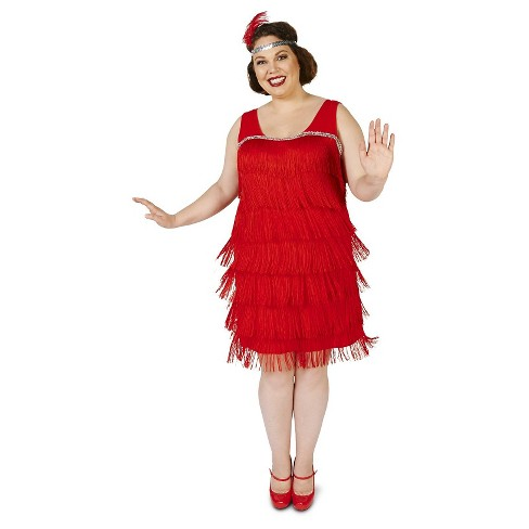 Womens Roaring 20s Flapper Costume 1X