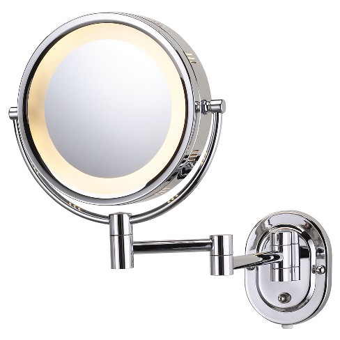 Jerdon 5X1X Halo Lighted Wall Mirror Double Arm Chrome - image 1 of 1