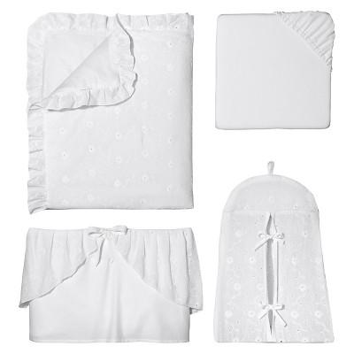 Sweet Jojo Designs 11pc Eyelet Crib Set - White