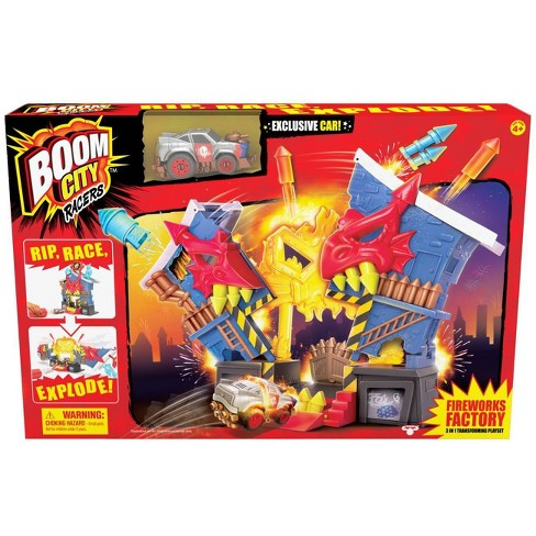 Boom City Racers Fireworks Factory Car Playset Target