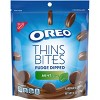 Oreo Thins Bites Fudge Dipped Mint Creme Sandwich Cookies - 6oz - image 2 of 4