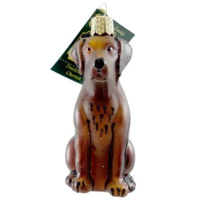"Old World Christmas 4.0"" Labrador Retriever Chocolate Dog Lab Best Friend  -  Tree Ornaments"