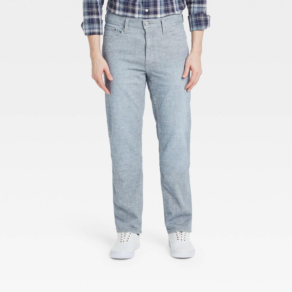 Men 39 S Straight Fit Lightweight Jeans Goodfellow 38 Co 8482 Indigo Blue 40x34
