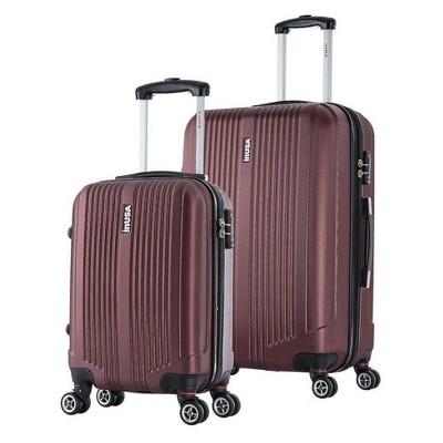 InUSA San Francisco 2pc Hardside Spinner Luggage Set - Wine