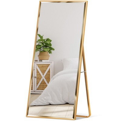 Leaning Floor Mirror, Full Length Mirror Hanging Hardware