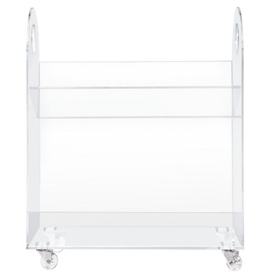 Babyletto Presto Acrylic Bookcase and Cart - Clear