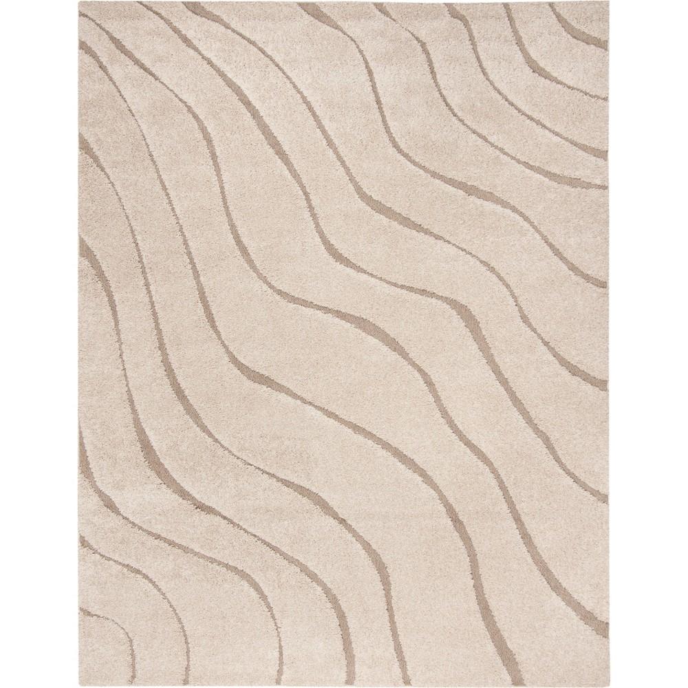 8'6X12' Wave Loomed Area Rug Cream (Ivory) - Safavieh