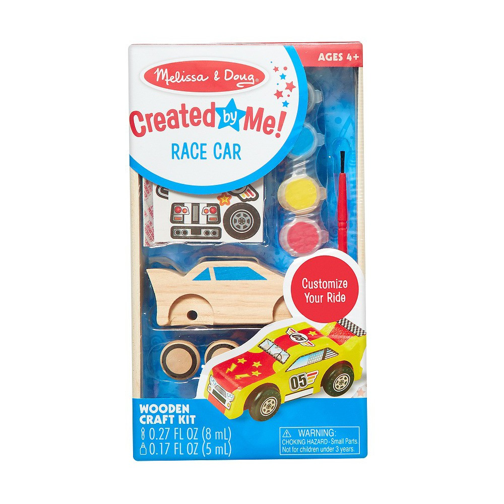 Melissa & Doug Decorate-Your-Own Wooden Race Car Craft Kit