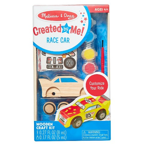 Melissa & Doug Decorate-Your-Own Wooden Race Car Craft Kit - image 1 of 3