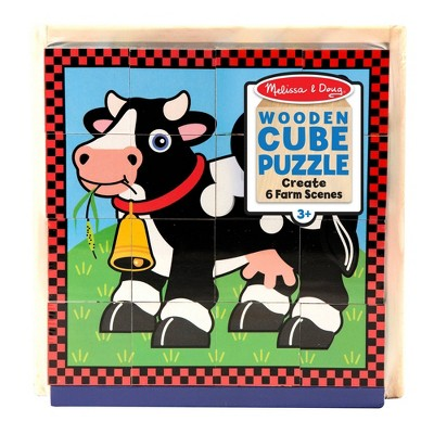 Melissa & Doug Farm Cube Puzzle 16pc