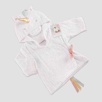 Baby Aspen Girls' Simply Enchanted Unicorn Hooded Spa Robe 0-9M