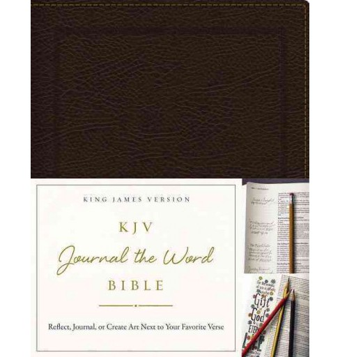 Journal the Word Bible : King James Version, Brown, Bonded Leather (Paperback) - image 1 of 1