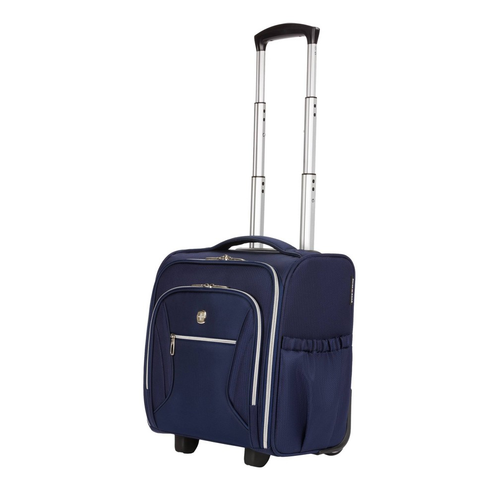 """Image of """"SWISSGEAR 16"""""""" Checklite Underseat Carry On Suitcase - Navy, Blue"""""""