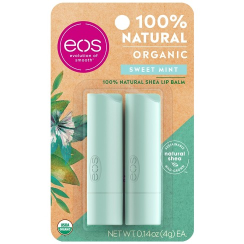 eos Natural & Organic Lip Balm Stick - Sweet Mint - 2pk/0.28oz - image 1 of 4