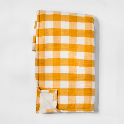Yellow Gingham Throw Blankets 50 X60  - Threshold™