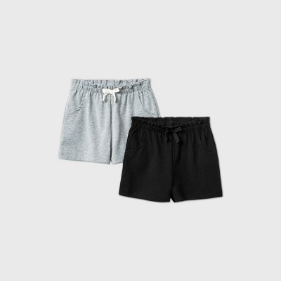 Baby Girls' 2pk Pull-On Shorts - Cat & Jack™ Gray 6-9M