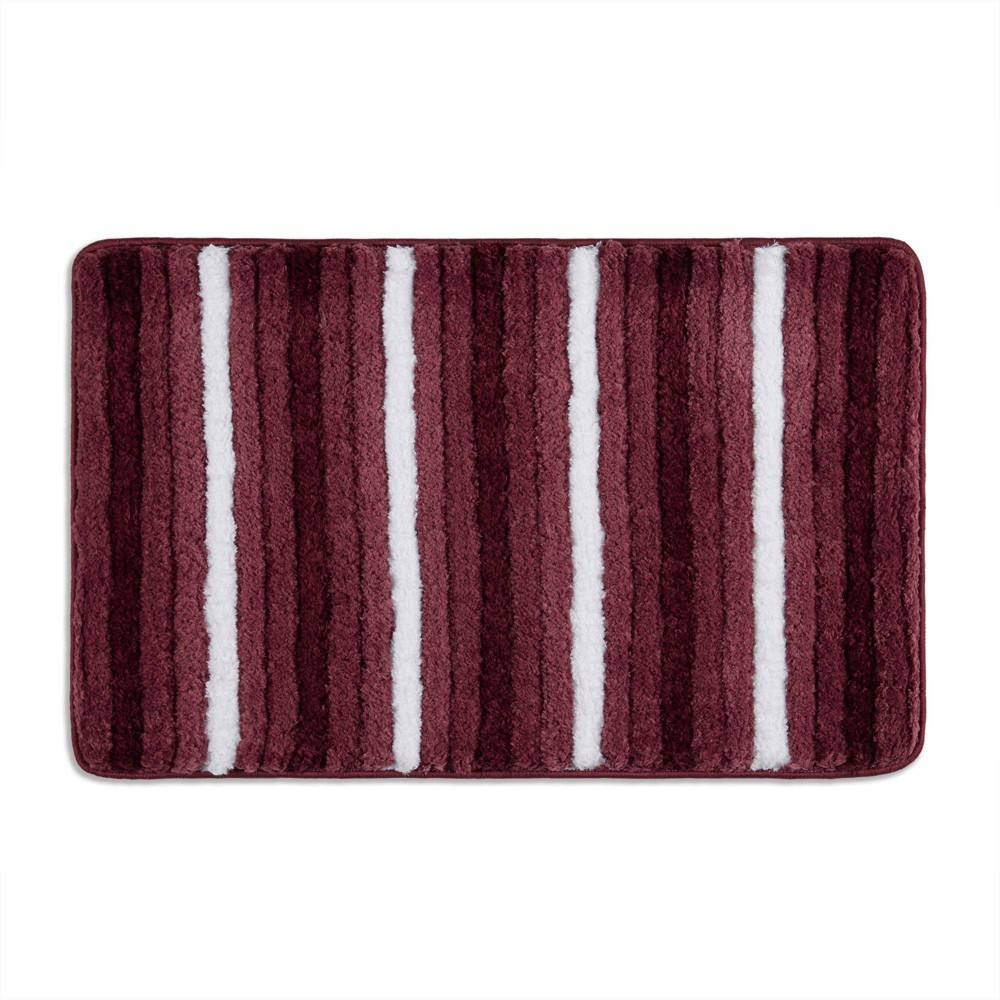 20 34 X32 34 Ombre Oasis Bath Mat Red White Home Dynamix
