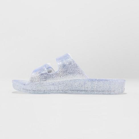 bda8cdf48 Girls' Susan Jelly Slide Sandals - Cat & Jack™ Silver S : Target