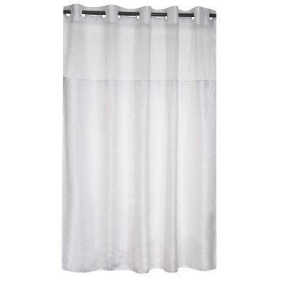 Herringbone Shower Curtain with Liner - Hookless