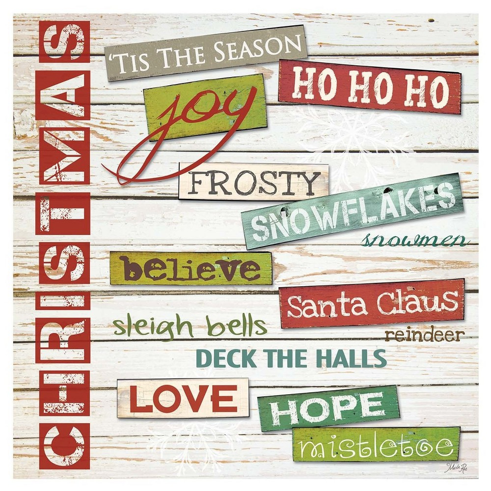Thirstystone Coasters Set of 4 - Christmas Sentiments, Multi-Colored