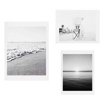 Set of 3 Bree Madden Sea Break Gallery Decorative Wall Arts - Deny Designs