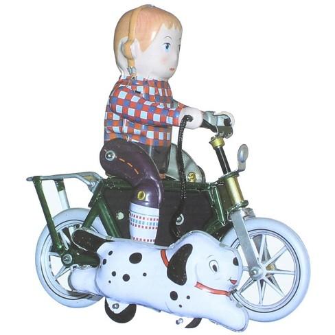 "Heaven Sent Innovation Inc. Vintage Style 5"" Tin Boy On Bicycle - image 1 of 2"