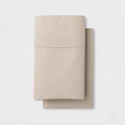 Solid Easy Care Pillowcase Set (King)Cream - Made By Design™