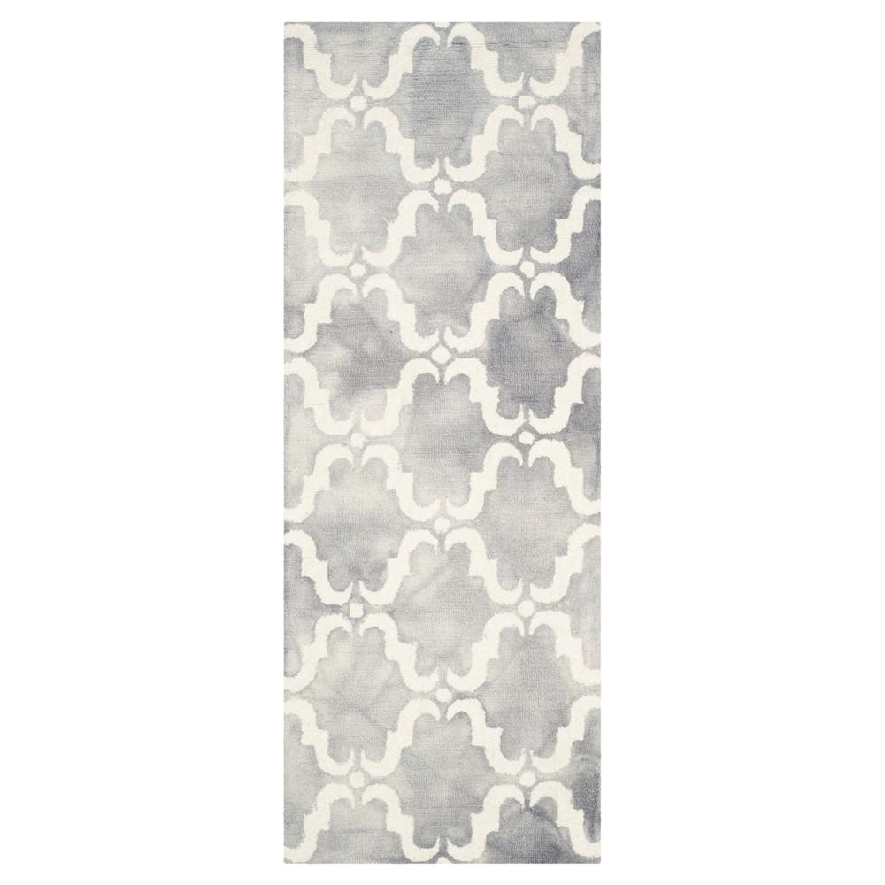 Charleston Accent Rug - Gray / Ivory (2'3 X 6') - Safavieh